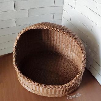Плетеный домик для кошки или кота
