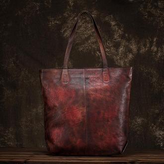 "Кожаная женская сумка ""Карамелла"""