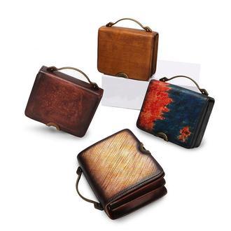 Эпотажня модель сумки из кожи
