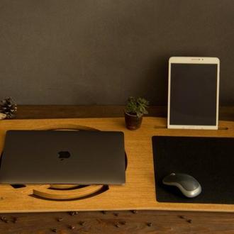 Деревянная подставка органайзер для под ноутбука на кровать на колени на стол из дерева
