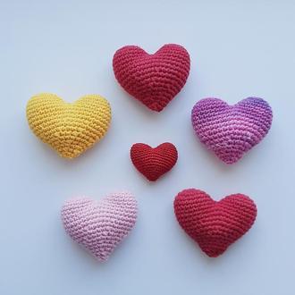 Вязаное сердце. Брелок. Сердечко. Подвеска. Подарок. Презент. Сувенир