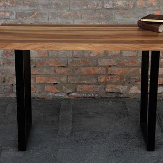 Деревянный лакированный стол в комнату, прихожую с масива ореха