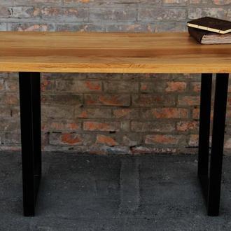 Деревянный лакированный стол в комнату, прихожую с масива дуба