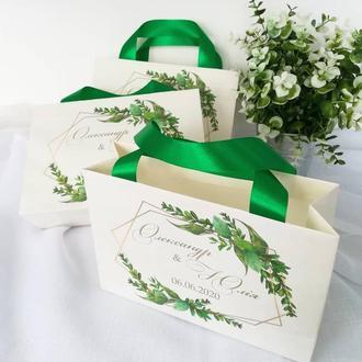 Бумажные пакеты в стиле рустик для свадьбы
