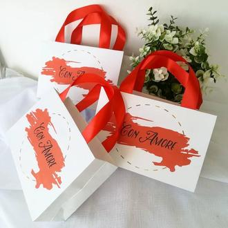 Бумажные пакеты на свадьбу
