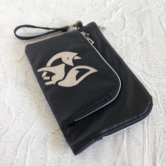 Чехол для планшета с отдельным карманом для телефона/наушников/кошелька. Клатч.