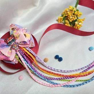 Куколка ЛОЛ с разноцветными косичками