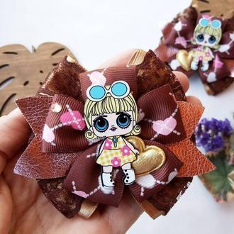 Бантики для волос Лол банты с куколкой lol бант резинки для девочек