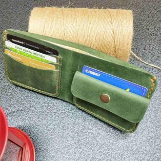 Бумажник кожаный Stedley Орсо зеленый