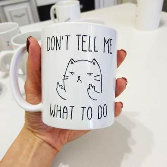 Чашка с котом и факами :D