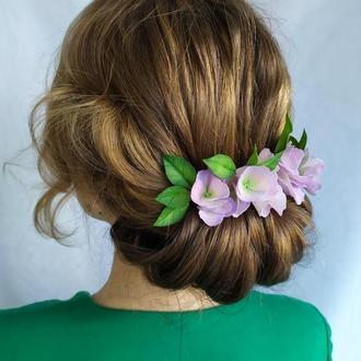 4 Шпильки для волос с гортензией, Цветы