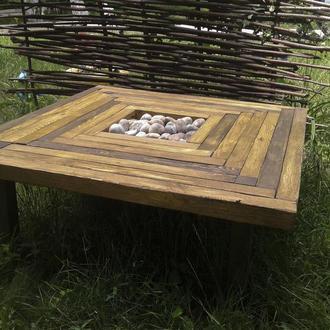 """Оригинальный столик ручной работы """"И на камнях растут деревья"""""""