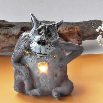 Аромалампа в виде волка Подарок для здоровья