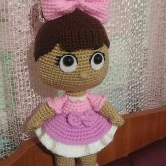 Кукла Лол вязаная