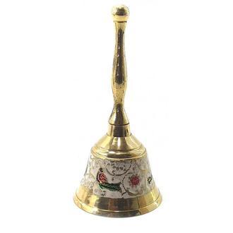 Колокольчик с ручкой бронзовый цветной 18220