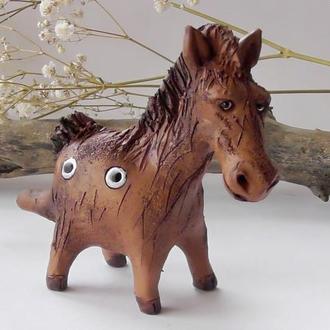Свистулька лошадка этно инструмент коник свистулька