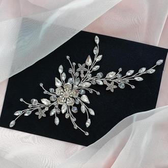 Свадебное украшение для волос, веточка в прическу, украшения в прическу на выпускной