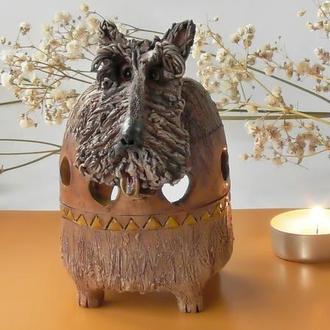 Терьер Аромалампа в виде собаки Подарок для здоровья любителю собак