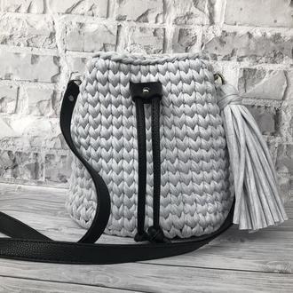 Вязаная сумка торба