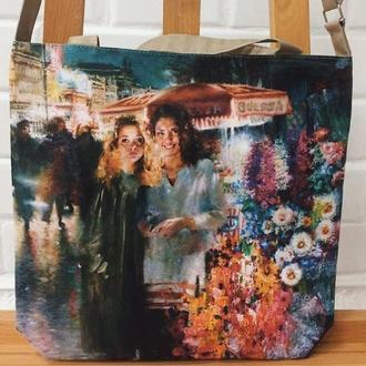 сумки с репродукциями на холсте