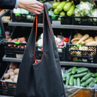 Шопер черный большая сумка для продуктов, экосумка, идеальное решение для покупок Одесса