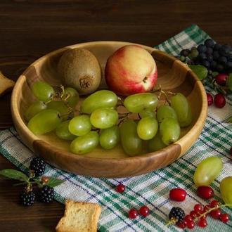 Деревянная тарелка для фруктов хлеба на стол из дерева