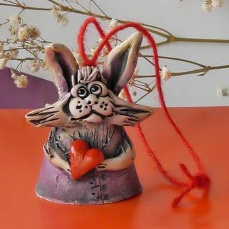 Колокольчик зайчик сувенир зайка