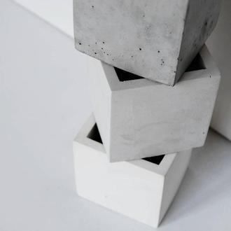 """Горшок из бетона """"Куб 8*8"""""""