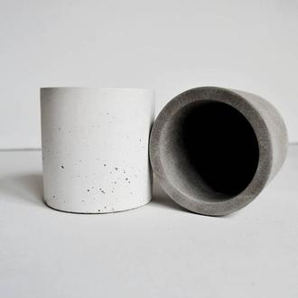 """Горшок из бетона """"Цилиндр8*8"""""""