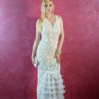 Свадебное платье ирландским кружевом