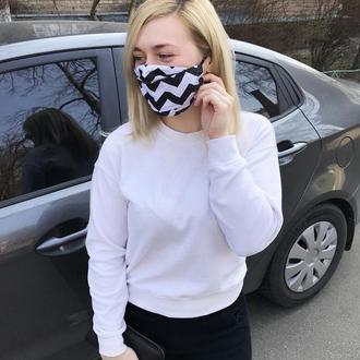 Многоразовые трёхслойные маски с кармашком для фильтров