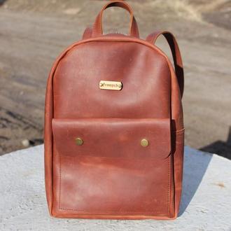 Кожаный рюкзак ручной работы Сильвер