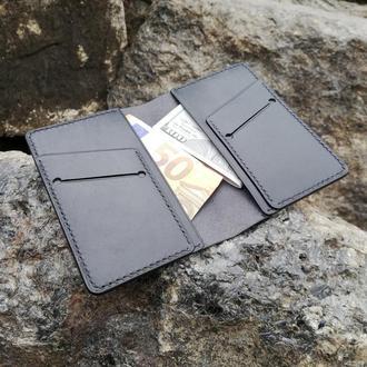 Кожаный кошелек мини-лонгер
