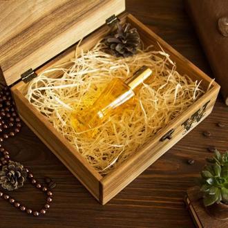 "Деревянная подарочная коробочка шкатулка футляр бокс кейс на подарок из дерева ""L"""