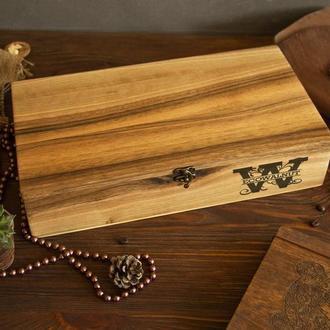 "Деревянная подарочная коробочка шкатулка футляр бокс кейс на подарок из дерева ""XXL"""