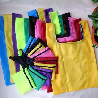 """Сумка-пакет """"Маечка"""" для покупок с чехлом, эко сумка, торба, сумка шоппер, ассорти"""