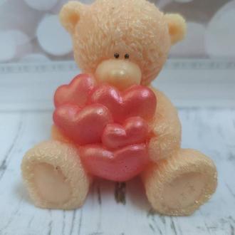 Мыло Тедди с сердечками.