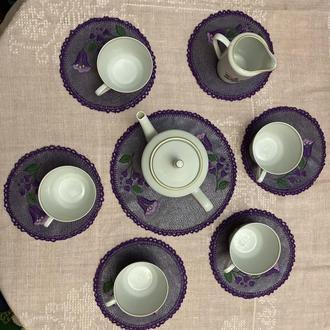 Декор салфетки для сервировки стола из натуральной кожи