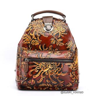 Шикарний жіночий рюкзак з тисненним візерунком