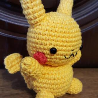 Вязаная игрушка Покемон Пикачу