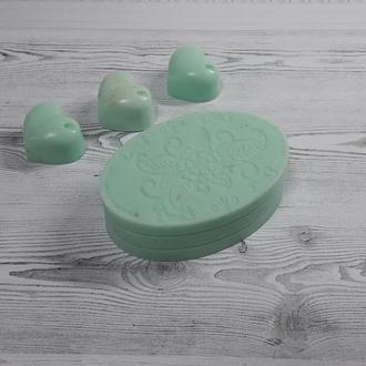Натуральное мыло Свежая мята с зеленой глиной