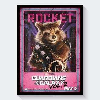 Постер Стражи Галактики / Guardians of the Galaxy (Реактивный Енот | Ракета)