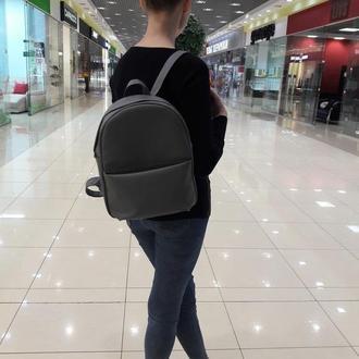 Вместительный серый женский рюкзак, экокожа