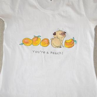 Жіноча футболка з ручним малюнком