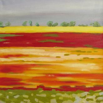 """Абстрактная картина """"Высокая температура"""" Картина абстракция"""