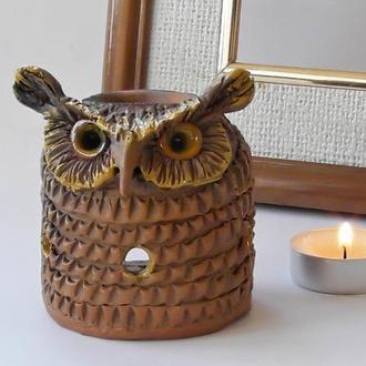 Аромалампа сова подарок в виде совы подарок для родных и близких людей