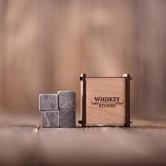 Камені для віскі 4 шт в дерев'яній скриньці