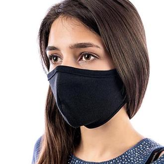 Женская Защитная маска на лицо многоразовая Silenta Woman, Черная