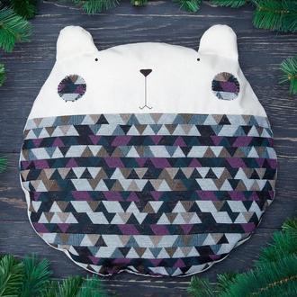 Декораитвная круглая подушка медведь, Подарок девушке