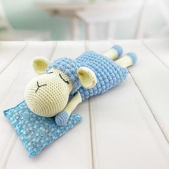 Грелка-комфортер для малыша, овечка голубая